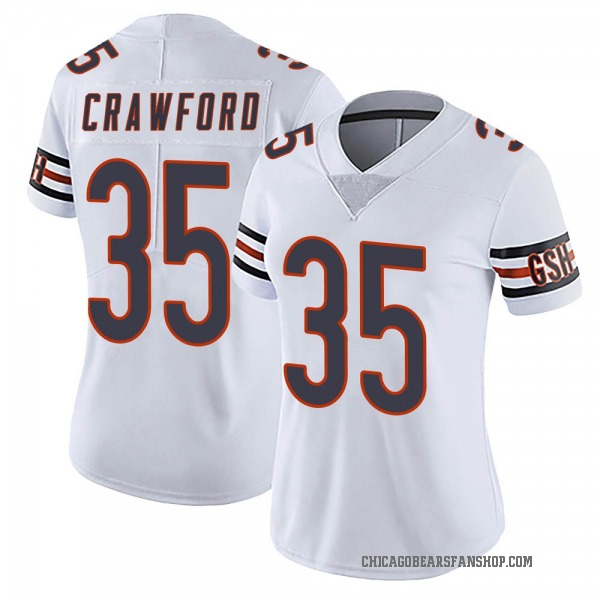 Women's Xavier Crawford Chicago Bears Limited White Vapor Untouchable Jersey