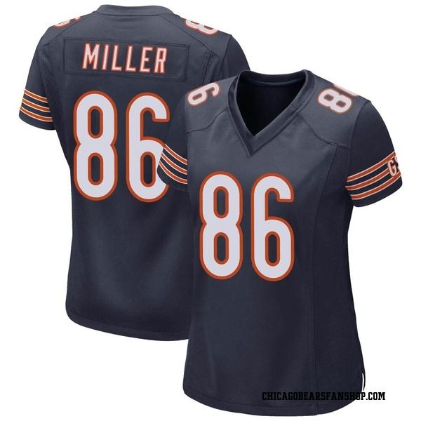 Women's Zach Miller Chicago Bears Game Navy Team Color Jersey