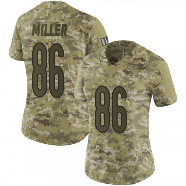 Women's Zach Miller Chicago Bears Limited Camo 2018 Salute to Service Jersey