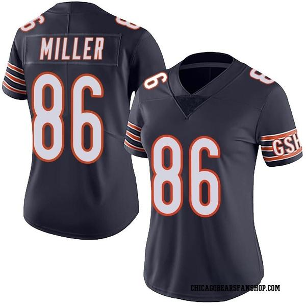 Women's Zach Miller Chicago Bears Limited Navy Team Color Vapor Untouchable Jersey