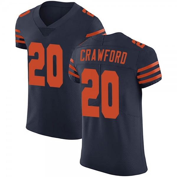 Xavier Crawford Chicago Bears Elite Navy Blue Alternate Vapor Untouchable Jersey