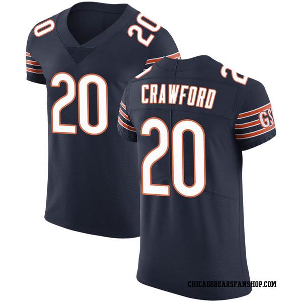 Xavier Crawford Chicago Bears Elite Navy Team Color Vapor Untouchable Jersey