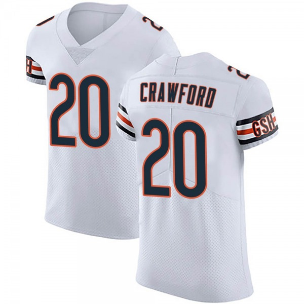 Xavier Crawford Chicago Bears Elite White Vapor Untouchable Jersey