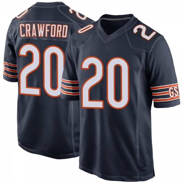 Xavier Crawford Chicago Bears Game Navy 100th Season Jersey