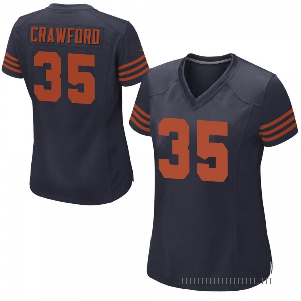 Xavier Crawford Chicago Bears Game Navy Blue Alternate Jersey
