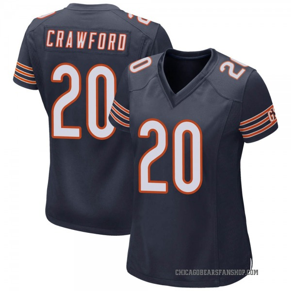 Xavier Crawford Chicago Bears Game Navy Team Color Jersey