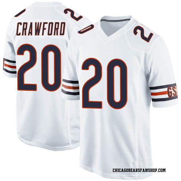 Xavier Crawford Chicago Bears Game White Jersey