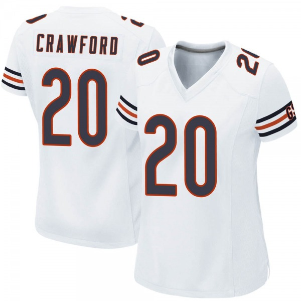 Xavier Crawford Chicago Bears Game White Jersey