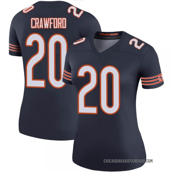 Xavier Crawford Chicago Bears Legend Navy Color Rush Jersey