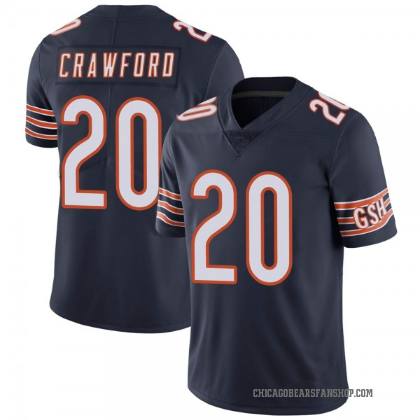 Xavier Crawford Chicago Bears Limited Navy Team Color Vapor Untouchable Jersey