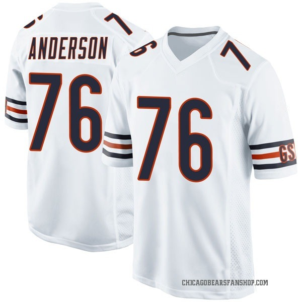 Youth Abdullah Anderson Chicago Bears Game White Jersey