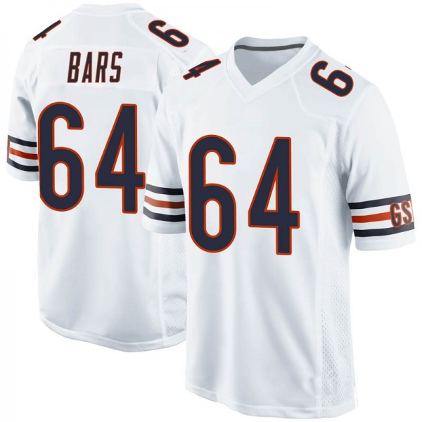 Youth Alex Bars Chicago Bears Game White Jersey