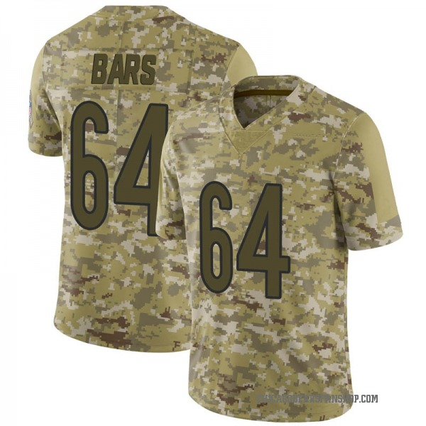Youth Alex Bars Chicago Bears Limited Camo 2018 Salute to Service Jersey