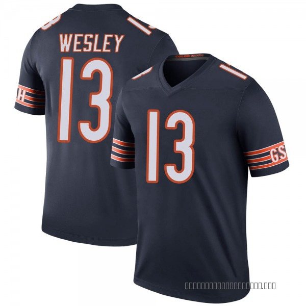 Youth Alex Wesley Chicago Bears Legend Navy Color Rush Jersey