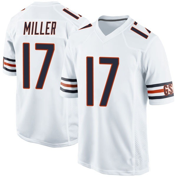 Youth Anthony Miller Chicago Bears Game White Jersey