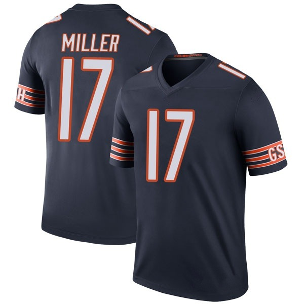 Youth Anthony Miller Chicago Bears Legend Navy Color Rush Jersey
