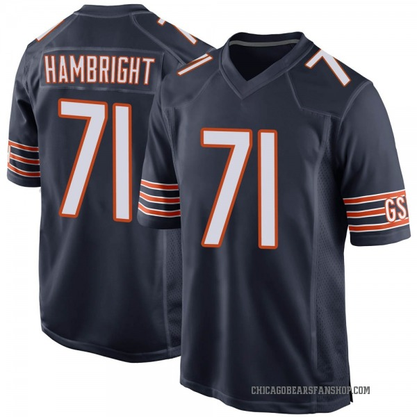 Youth Arlington Hambright Chicago Bears Game Navy Team Color Jersey