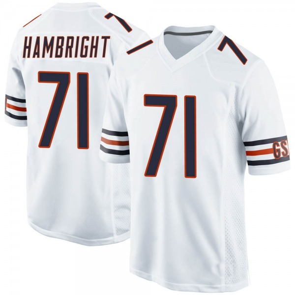 Youth Arlington Hambright Chicago Bears Game White Jersey