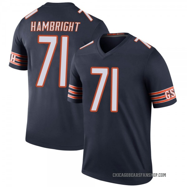 Youth Arlington Hambright Chicago Bears Legend Navy Color Rush Jersey