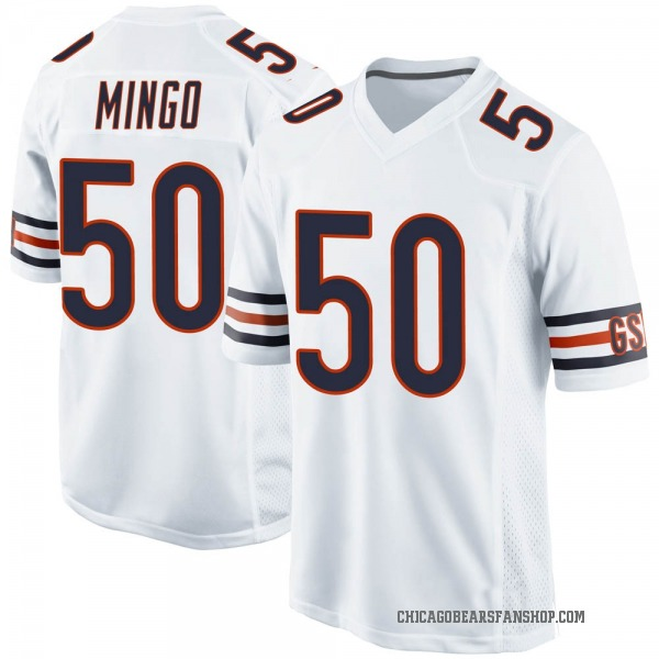 Youth Barkevious Mingo Chicago Bears Game White Jersey