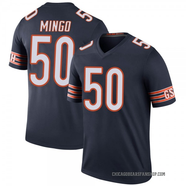 Youth Barkevious Mingo Chicago Bears Legend Navy Color Rush Jersey