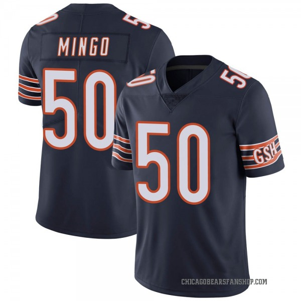 Youth Barkevious Mingo Chicago Bears Limited Navy Team Color Vapor Untouchable Jersey
