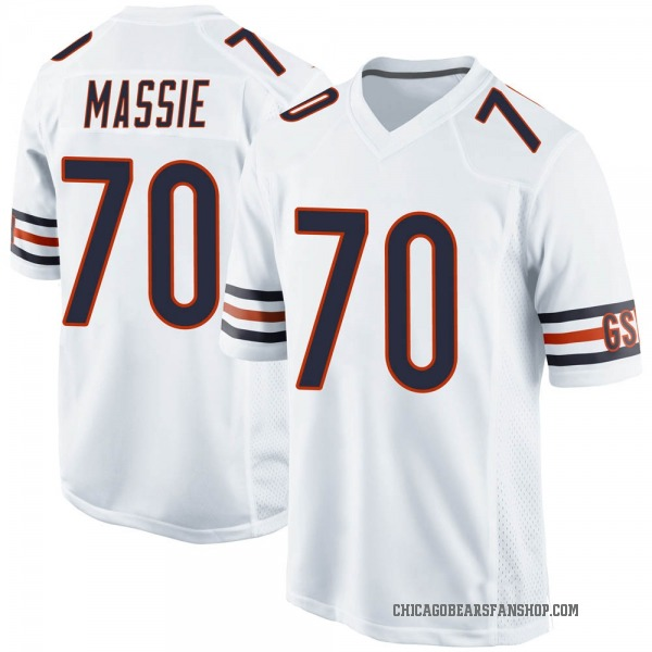 Youth Bobby Massie Chicago Bears Game White Jersey