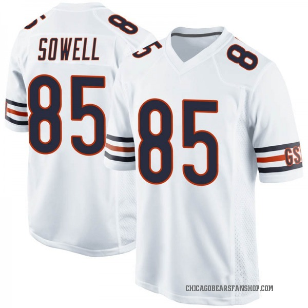 Youth Bradley Sowell Chicago Bears Game White Jersey