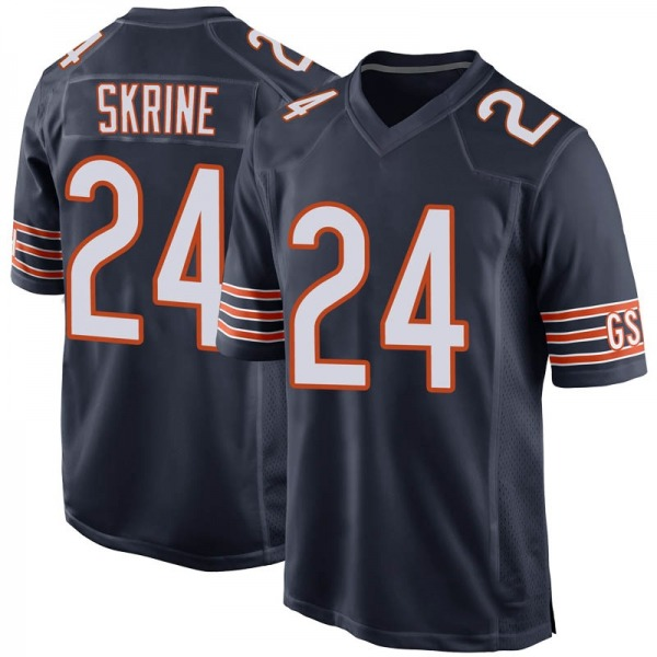 Youth Buster Skrine Chicago Bears Game Navy Team Color Jersey