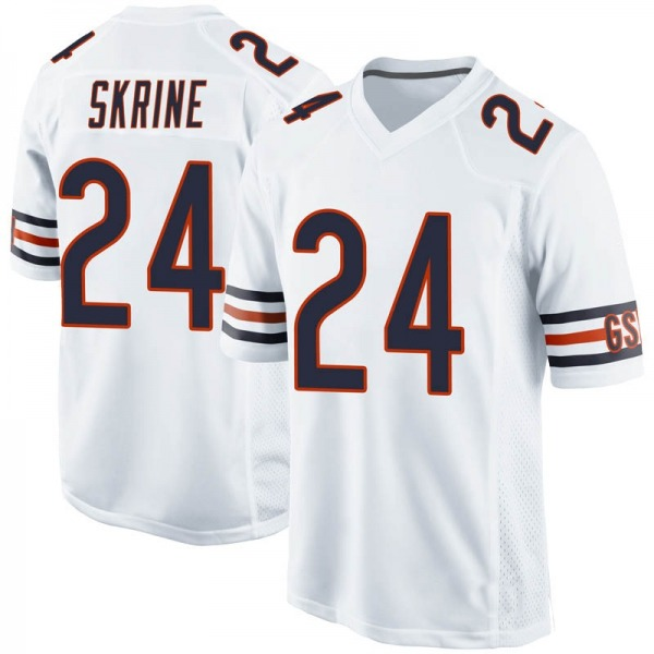 Youth Buster Skrine Chicago Bears Game White Jersey