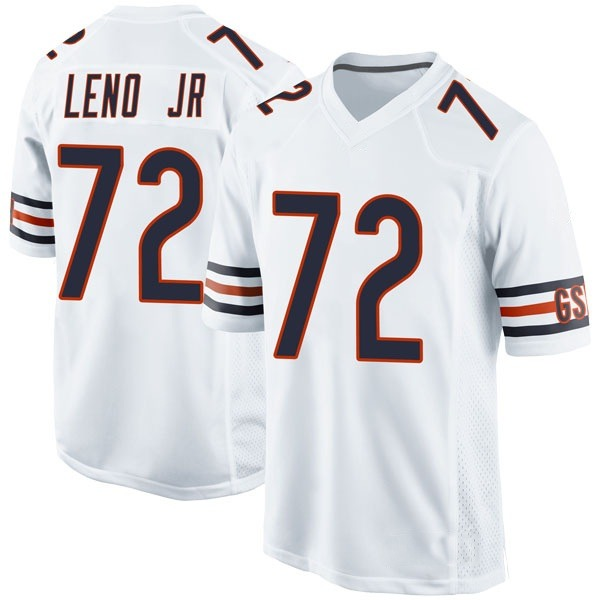 Youth Charles Leno Jr. Chicago Bears Game White Jersey