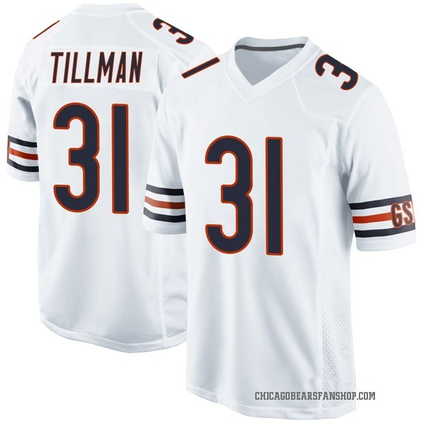 Youth Charles Tillman Chicago Bears Game White Jersey