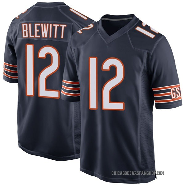Youth Chris Blewitt Chicago Bears Game Navy Team Color Jersey