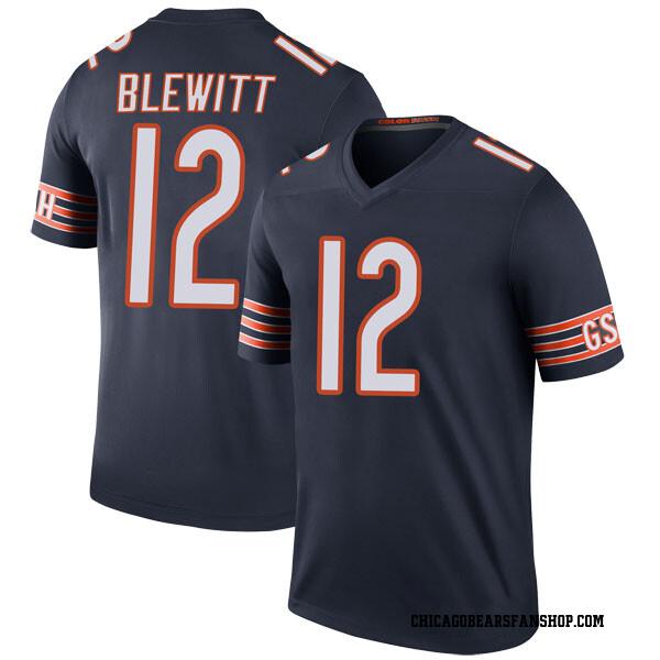Youth Chris Blewitt Chicago Bears Legend Navy Color Rush Jersey