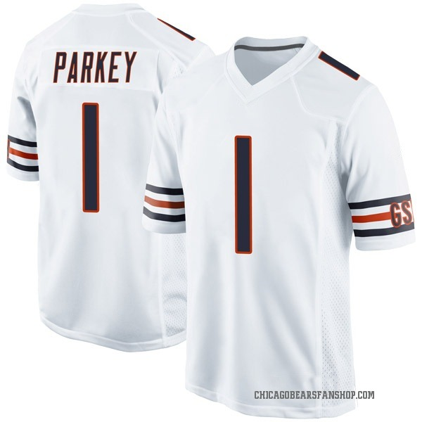 Youth Cody Parkey Chicago Bears Game White Jersey