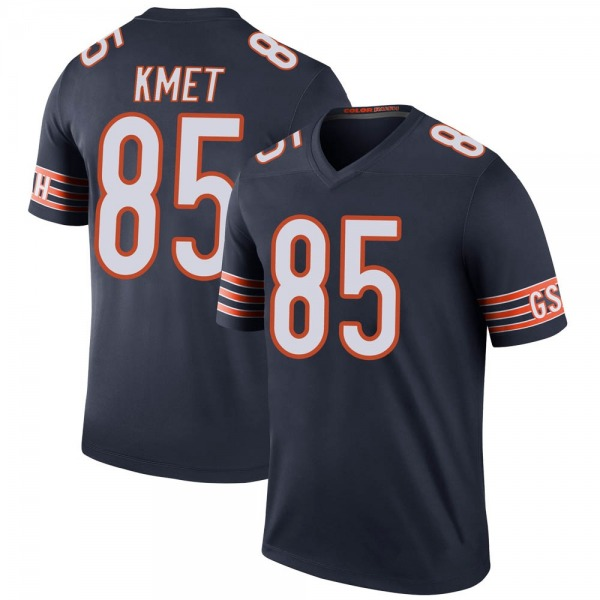 Youth Cole Kmet Chicago Bears Legend Navy Color Rush Jersey