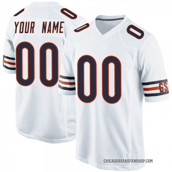 Youth Custom Chicago Bears Game White Jersey