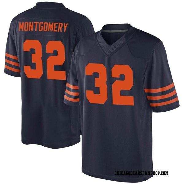 Youth David Montgomery Chicago Bears Game Navy Blue Alternate Jersey
