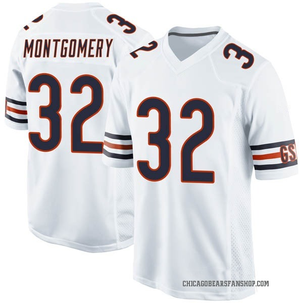 Youth David Montgomery Chicago Bears Game White Jersey