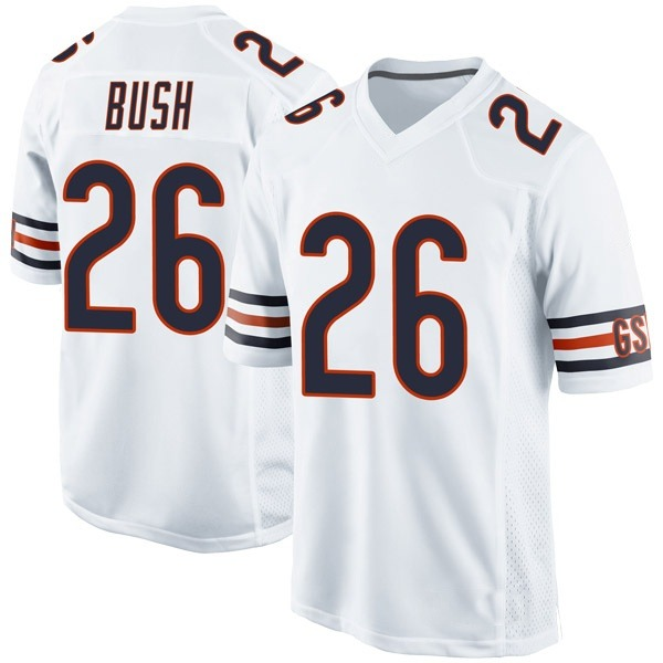 Youth Deon Bush Chicago Bears Game White Jersey