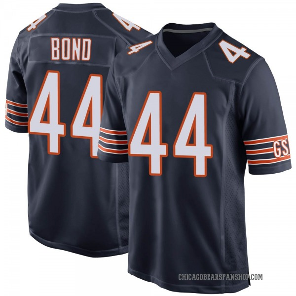 Youth Devante Bond Chicago Bears Game Navy Team Color Jersey
