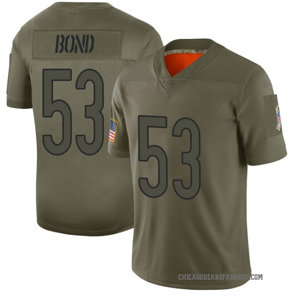 Youth Devante Bond Chicago Bears Limited Camo 2019 Salute to Service Jersey