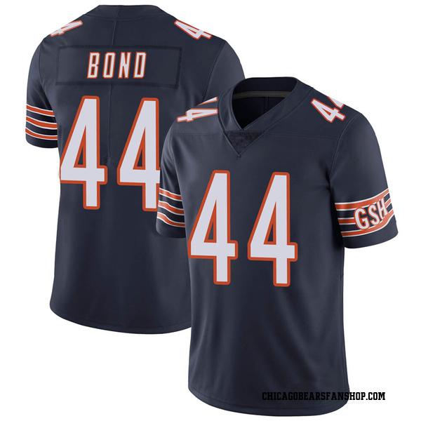 Youth Devante Bond Chicago Bears Limited Navy Team Color Vapor Untouchable Jersey