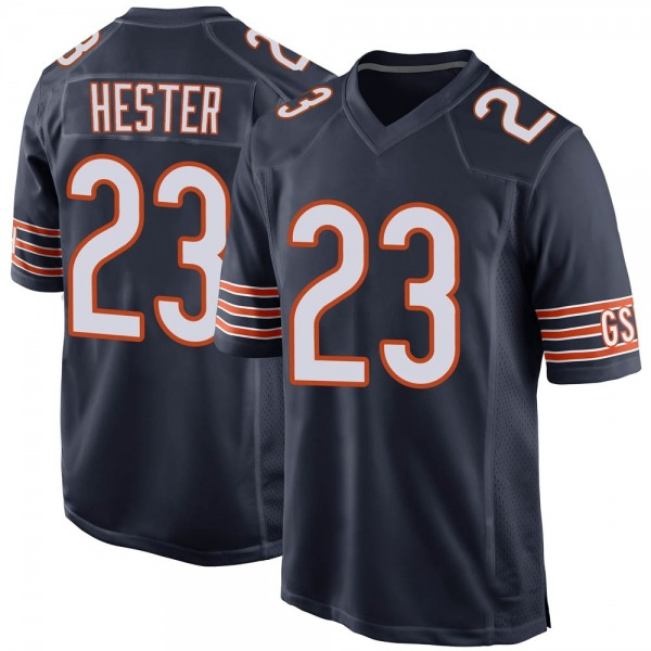 Youth Devin Hester Chicago Bears Game Navy Team Color Jersey