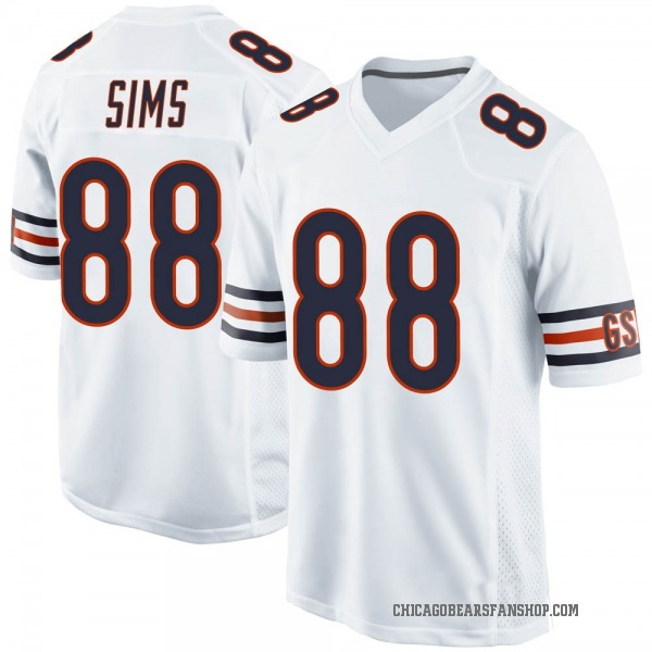 Youth Dion Sims Chicago Bears Game White Jersey