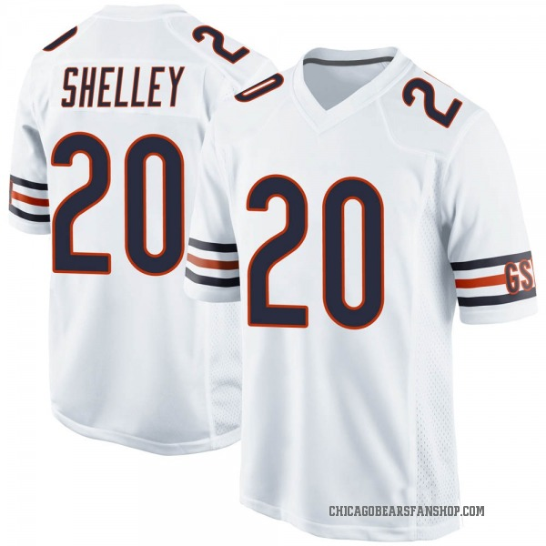 Youth Duke Shelley Chicago Bears Game White Jersey