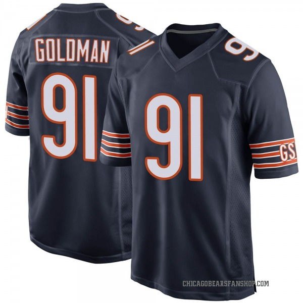 Youth Eddie Goldman Chicago Bears Game Navy Team Color Jersey