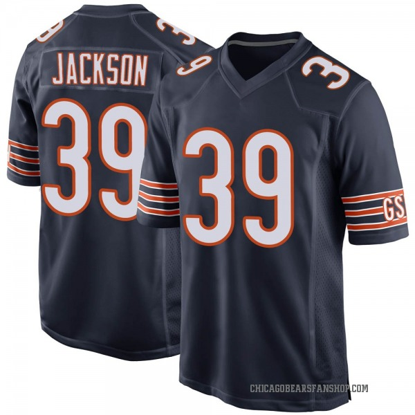 Youth Eddie Jackson Chicago Bears Game Navy Team Color Jersey
