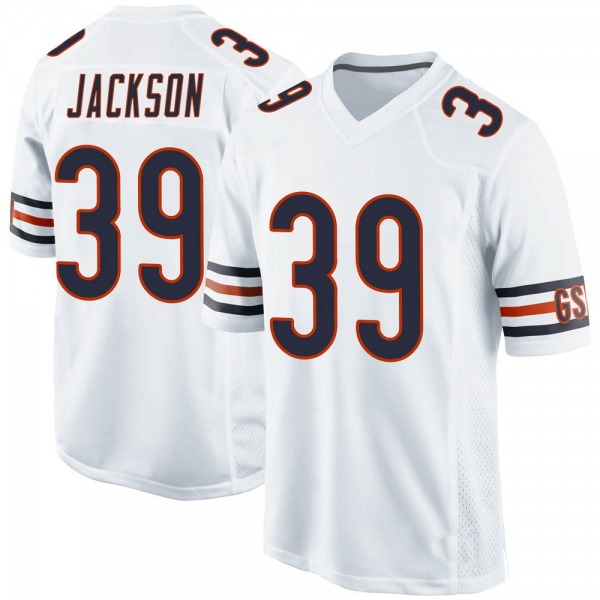 Youth Eddie Jackson Chicago Bears Game White Jersey