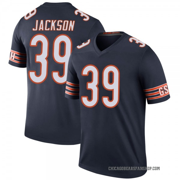 Youth Eddie Jackson Chicago Bears Legend Navy Color Rush Jersey